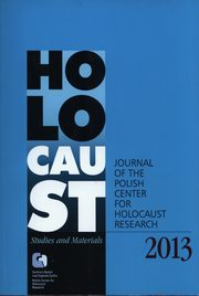 Holocaust Studies and materials 2013,